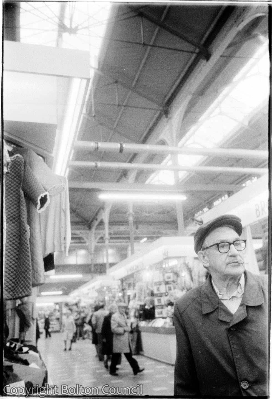Smoking Man at the Market