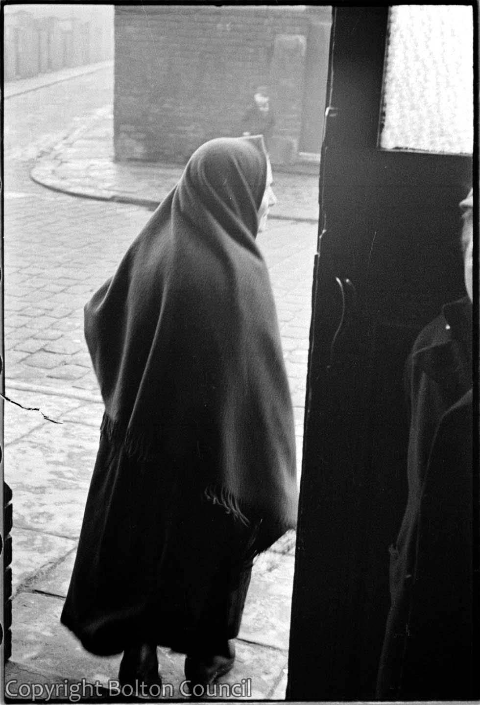 Woman wearing a Shawl