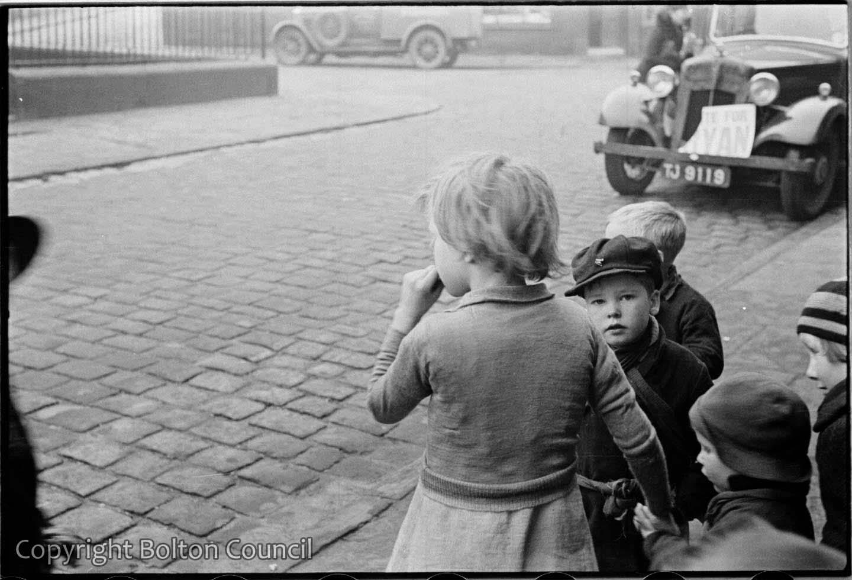Children outside Polling Station