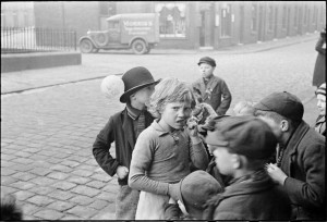 Children outside Polling Station