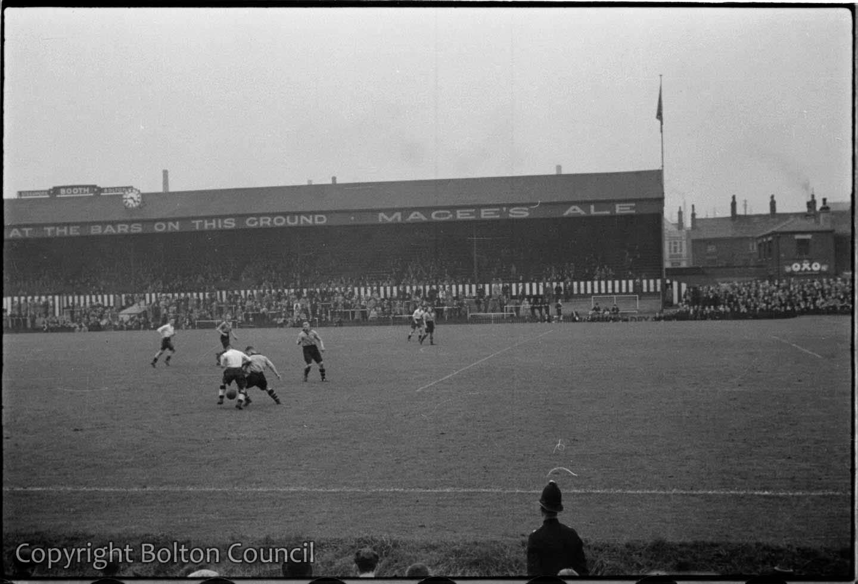 Bolton Wanderers reserve team play at Burnden Park
