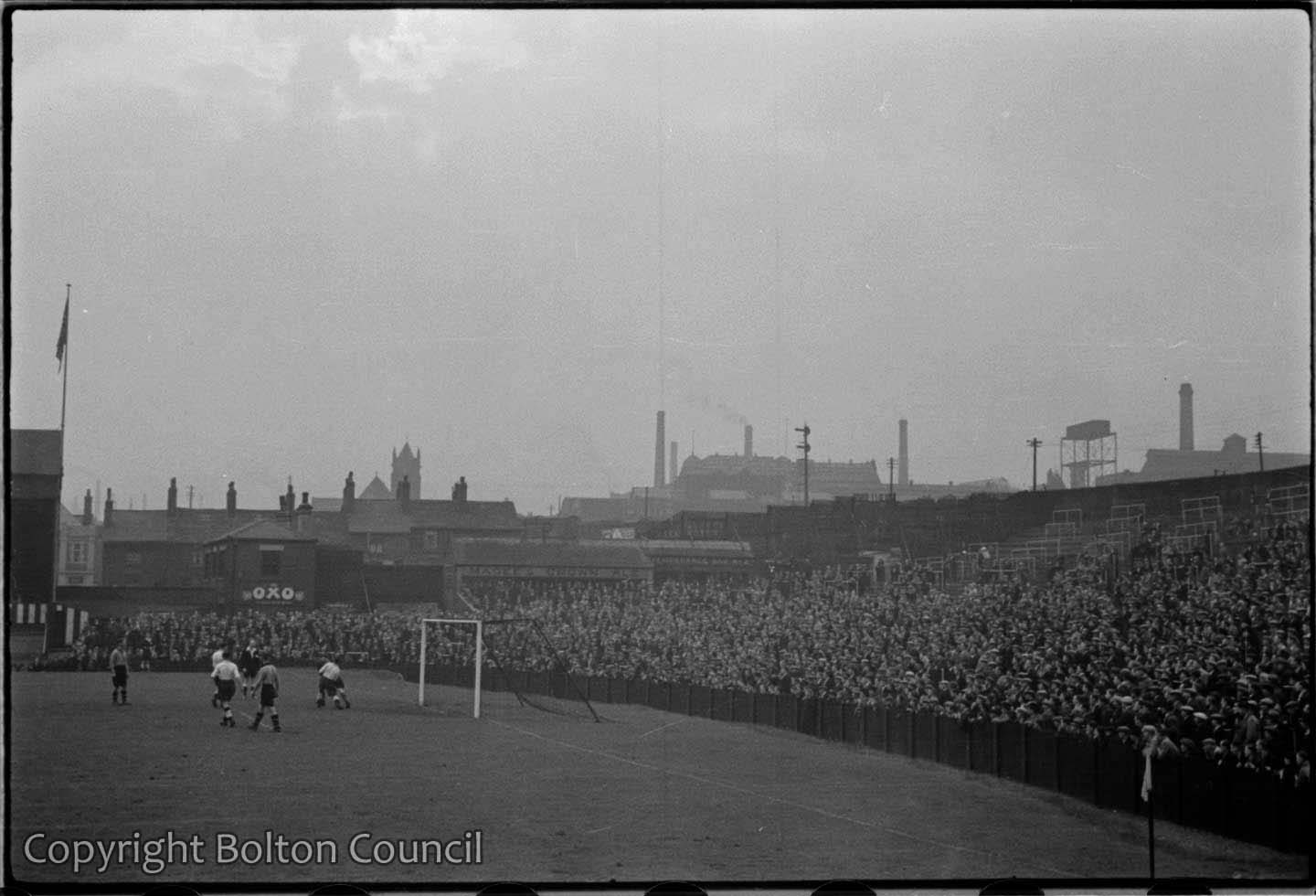 Bolton Wanderers reserve team play at Burnden Park