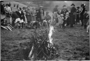 Campfire display at a Girl Guide Rally.