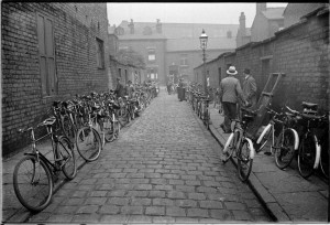Bicycles outside the West Ward Labour Club.