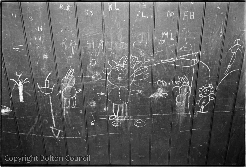Graffiti on a railway bridge.