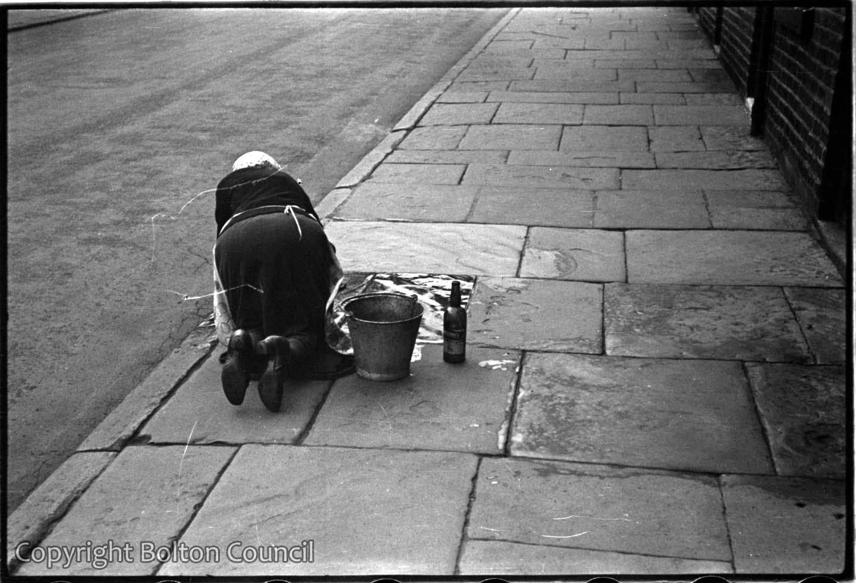 Scrubbing the pavement