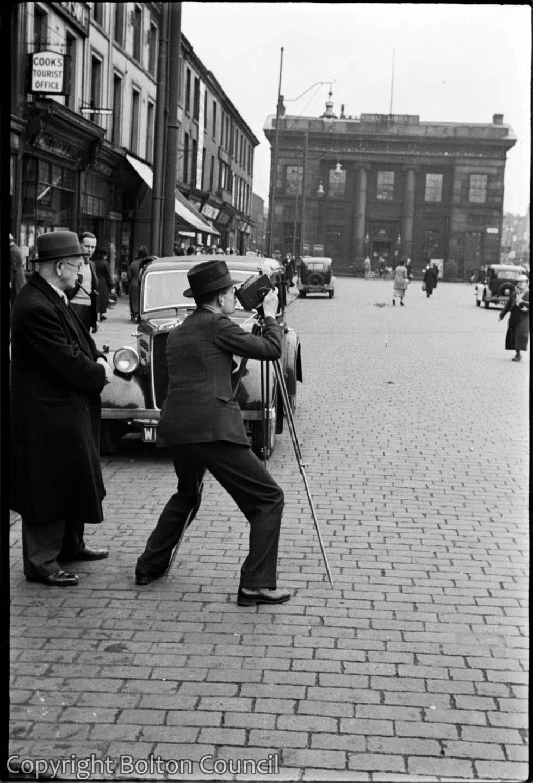 Filming in Victoria Square