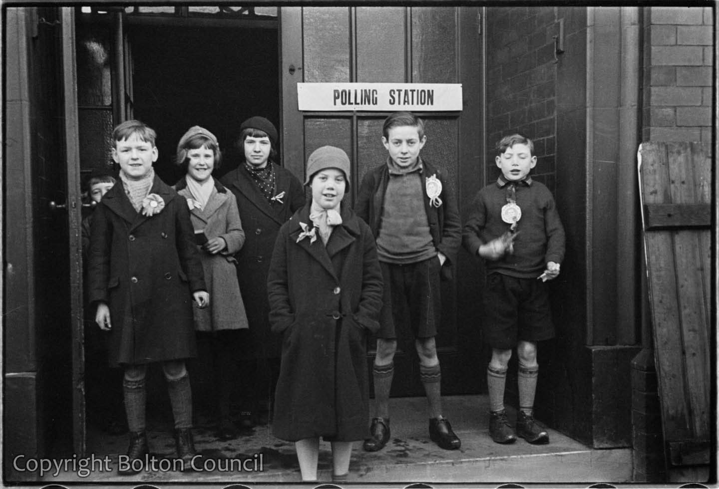 Children outside a Polling Station